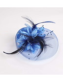 cheap Women's Dresses-Feather Fabric Net Fascinators 1 Wedding Special Occasion Casual Headpiece