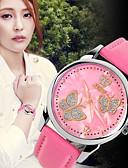 cheap Quartz Watches-Women's Wrist Watch Quartz Japanese Quartz 30 m Hot Sale Leather Band Analog Charm Fashion Black / White / Red - Red Blue Pink / Stainless Steel