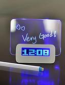 hesapli Nedime Elbiseleri-Günlük Modern/Çağdaş Ofis/İş Plastik Dikdörtgen İç Mekan /Dış Mekan,Düğme Pil Powered Alarm Saatleri