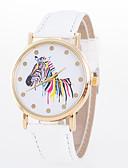 preiswerte Kleideruhr-Damen Armbanduhr Armbanduhren für den Alltag PU Band Modisch / Elegant Schwarz / Weiß / Blau / Ein Jahr / Jinli 377