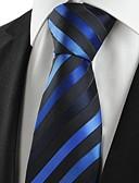 abordables Corbatas y Pajaritas para Hombre-Hombre Algodón Rayón Poliéster Corbata - Fiesta Trabajo Básico A Rayas