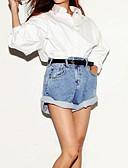 preiswerte Damen Hosen-Damen Hohe Hüfthöhe Kurze Hosen Jeans Hose Solide