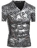 baratos Camisetas & Regatas Masculinas-Homens Camiseta - Esportes Estampado Algodão