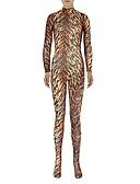 cheap Women's Fur Coats-Zentai Suits Ninja Zentai Cosplay Costumes Brown Animal Leotard / Onesie Zentai Spandex Lycra Men's Women's Halloween