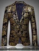 cheap Men's Blazers & Suits-Men's Club Sophisticated Exaggerated Plus Size Slim Blazer Print / Long Sleeve