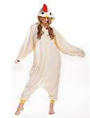 preiswerte Hochzeitsschleier-Erwachsene Kigurumi-Pyjamas Hahn / Huhn Pyjamas-Einteiler Polar-Fleece Beige Cosplay Für Herren und Damen Tiernachtwäsche Karikatur Halloween Fest / Feiertage