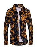 ieftine Blazer & Costume de Bărbați-Bărbați Cămașă Bumbac Imprimeu