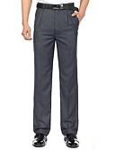 ieftine Pantaloni Bărbați si Pantaloni Scurți-Bărbați Bumbac Costume / Drept / Zvelt Pantaloni Mată / Muncă