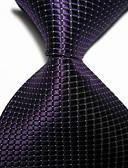 זול עניבות ועניבות פרפר לגברים-עניבת צווארון - יצירתי מסוגנן פאר משובץ (רשת) קלסי מסיבה חתונה בגדי ריקוד גברים