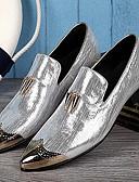 baratos Calças e Shorts Masculinos-Homens Sapatos de couro Couro Primavera / Outono Formais Oxfords Prata / Dourado / Casamento / Festas & Noite / Sapatas de novidade / Sapatos de vestir