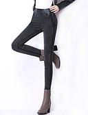 baratos Calças Femininas-Mulheres Tamanhos Grandes Cintura Alta Justas/Skinny Jeans Calças Patchwork