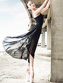 olcso Tánc öltözet gyerekeknek-Balettcipők Felszerelések Női Teljesítmény Spandex / Szatén Cakkos / Ráncolt Ujjatlan Felső / Szoknya