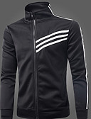abordables Sudaderas de Hombre-Hombre Deportes Manga Larga La chaqueta con capucha A Rayas