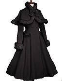 economico Cappelli da donna-Da principessa Dolce Dolce Lana Per donna Cappotto Cosplay Nero Manica lunga Lolita costumi