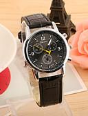 cheap Dress Watches-Men's Wrist Watch Hot Sale PU Band Charm Black / Blue / Brown