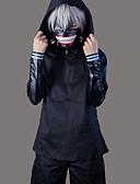 billige T-shirts og undertrøjer til herrer-Inspireret af Tokyo Ghoul Ken Kaneki Anime Cosplay Kostumer Cosplay Kostumer Ensfarvet Langærmet Frakke / Top / Bukser Til Herre Halloween Kostumer