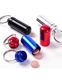 billige Slips og butterfly-vandtæt lille metalbeholder aluminium pille æske holder nøglering medicin pakning flaske