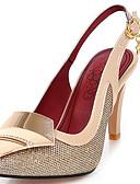 hesapli Kadın Gecelikleri-Kadın's Ayakkabı Parıltılı / Yapay Deri Bahar / Yaz Topuktan Bağlamalı Sandaletler Stiletto Topuk Elbise / Parti ve Gece için Işıltılı