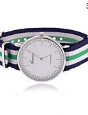 baratos Relógios da Moda-Mulheres Relógio de Moda Venda imperdível Tecido Banda Listras Cores Múltiplas / Um ano / Tianqiu 377