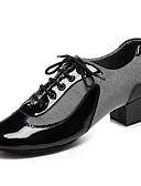 abordables Biquinis y Bañadores para Mujer-Hombre Zapatos de Baile Latino / Zapatos de Jazz Semicuero Sandalia / Tacones Alto Con Cordón Tacón Cuadrado Personalizables Zapatos de