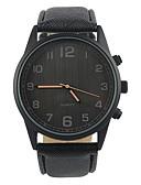 preiswerte Herrenuhren-Herrn Armbanduhr Armbanduhren für den Alltag PU Band Charme / Modisch Schwarz