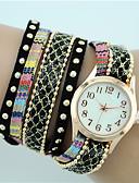 cheap Bracelet Watches-Women's Quartz Bracelet Watch Hot Sale Fabric Band Bohemian Fashion Black White Blue Red Pink Yellow Beige