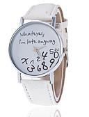 baratos Relógios da Moda-Mulheres Relógio de Pulso Quartzo Relógio Casual PU Banda Analógico Fashion Relógios com Palavras Preta / Branco / Vermelho - Verde Azul Claro Melancia