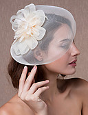 cheap Party Headpieces-Tulle / Lace / Feather Fascinators / Headwear with Floral 1pc Wedding / Special Occasion Headpiece