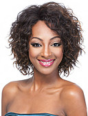 olcso Divatos övek-Szintetikus parókák Göndör Szintetikus haj Afro-amerikai paróka Barna Paróka Női Rövid Sapka nélküli Barna