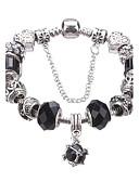 cheap Women's Nightwear-Women's Crystal Beaded Beads Charm Bracelet Strand Bracelet - Crystal, Rhinestone, Silver Plated European, Fashion Bracelet Blue / Light Blue / Light Green For Christmas Gifts Party Daily