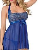 cheap Women's Nightwear-Women's Sexy Ultra Sexy Lace Lingerie Nightwear - Backless Mesh, Solid Colored