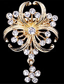 cheap Men's Belt-Women's Brooches - Imitation Diamond Flower Luxury, Fashion Brooch Golden For Wedding / Party / Special Occasion