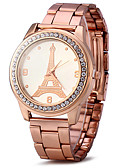 cheap Fashion Watches-Women's Wrist Watch Quartz Cool Imitation Diamond / Rose Gold Plated Stainless Steel Band Analog Sparkle Eiffel Tower Fashion Gold / Rose Gold - Golden Rose Gold One Year Battery Life / SSUO LR626