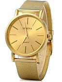 baratos Relógio Elegante-Mulheres Relógio de Pulso Quartzo Relógio Casual Legal Lega Banda Analógico Vintage Casual Fashion Dourada