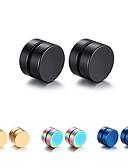 cheap Men's Downs & Parkas-Men's Stud Earrings / Earrings / Magnetic Bracelet - Titanium Steel Fashion Black For Christmas Gifts / Daily / Casual