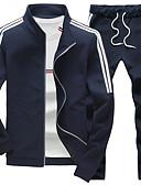 billige Hettegensere og gensere til herrer-Herre Store størrelser Sport Aktive Klær Sett Stripet