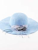 baratos Chapéus de Moda-Mulheres Férias Linho, Chapéu de sol Sólido