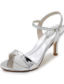 hesapli Gelin Annesi Elbiseleri-Kadın's Ayakkabı Patentli Deri Bahar / Yaz Sandaletler Stiletto Topuk Düğün / Parti ve Gece için Gümüş / Mavi / Altın