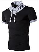 お買い得  メンズTシャツ&タンクトップ-男性用 スポーツ 週末 Tシャツ, 活発的 スタンド ソリッド コットン