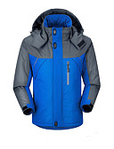 cheap Women's Downs & Parkas-Men's Sports Active Padded - Solid Colored / Patchwork / Long Sleeve