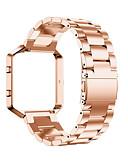 billige Vifter og parasoller-Klokkerem til Fitbit Blaze Fitbit Klassisk spenne Metall / Rustfritt stål Håndleddsrem