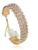baratos Vestidos de Mulher-Mulheres Tênis Pulseiras - Fashion Pulseiras Prata / Dourado Para Casamento