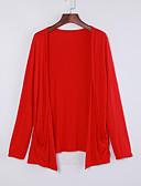 billige damesweaters-Dame Langærmet Lang Cardigan - Ensfarvet
