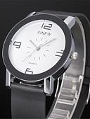 baratos Relógio Elegante-Homens Relógio de Pulso Relógio Casual PU Banda Casual / Fashion Preta / Branco / SSUO 377