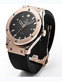 cheap Square & RectangularWatches-Women's Couple's Unisex Fashion Watch Wrist Watch Quartz Rubber Black 30 m / Analog Casual - Black Silver Rose Gold