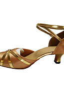 cheap Ballroom Dance Wear-Women's Modern Shoes / Ballroom Shoes Synthetic / Satin / Patent Leather High Heel / Sandal Buckle / Ribbon Tie / Lace-up Cuban Heel Non