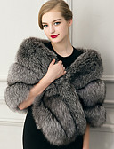 cheap Fashion Scarves-Sleeveless Faux Fur Wedding Party Evening Casual Women's Wrap With Feathers / Fur Capelets