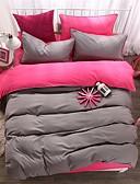 voordelige Dress horloge-Dekbedovertrek Sets Effen 4-delig Polyesteri ReactievePrint Polyesteri 1stuk Dekbedovertrek 2 Stuks Shams 1 St Laken