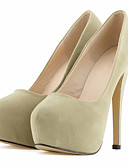 preiswerte Socken & Strumpfwaren-Damen Schuhe Stoff Frühling / Herbst High Heels Stöckelabsatz / Plattform Grün / Blau / Mandelfarben / Hochzeit / Party & Festivität / Kleid / Party & Festivität