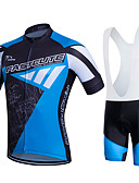 cheap Ice Skating Dresses , Pants & Jackets-Fastcute Men's / Women's Short Sleeve Cycling Jersey with Bib Shorts - Black / Blue Plus Size Bike Clothing Suit, Breathable, 3D Pad, Quick Dry, Sweat-wicking Polyester, Lycra Sports / Stretchy